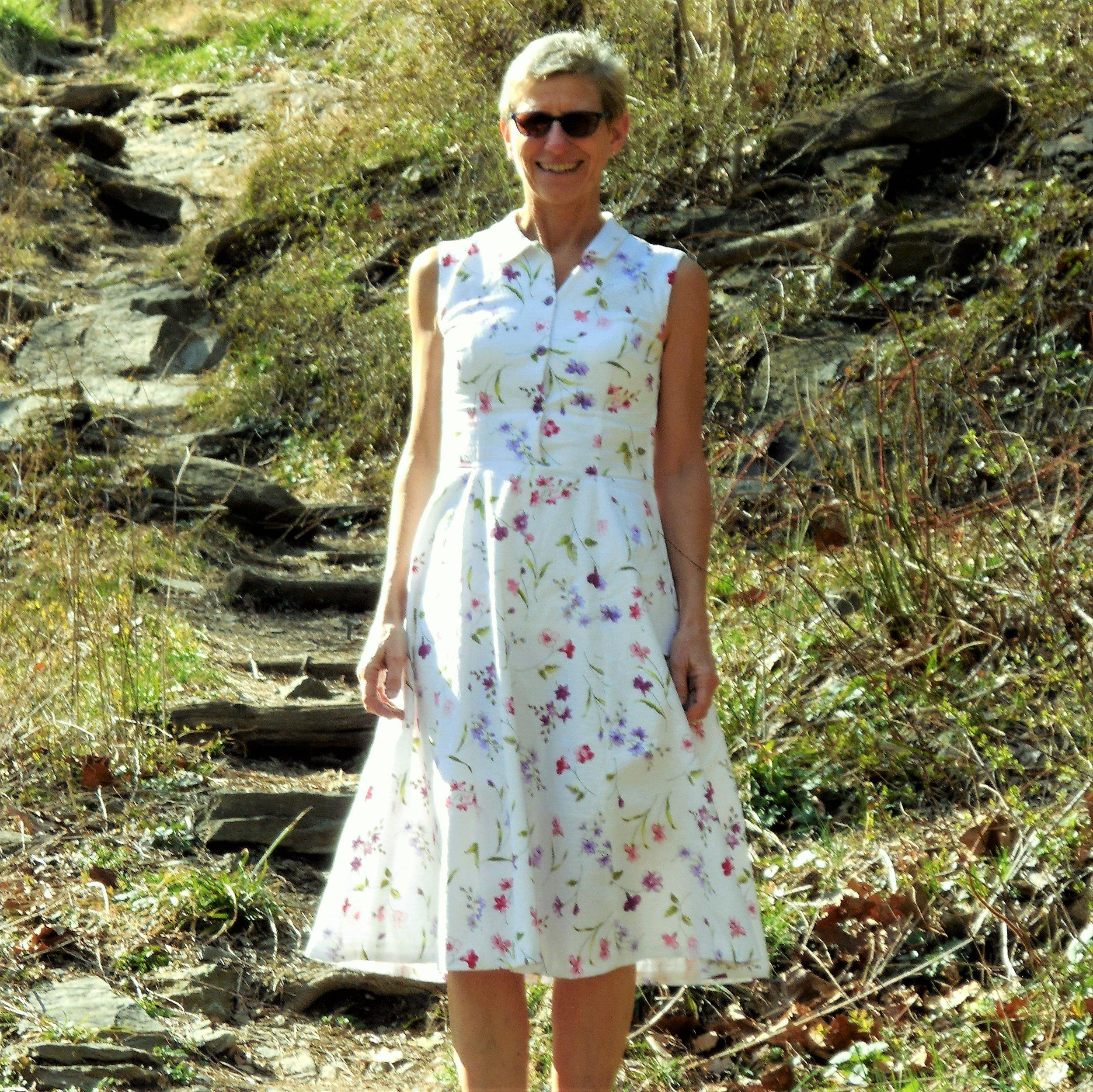 anikka becker. shirtwaist dress in swiss cotton pique. hiking trail (2).JPG