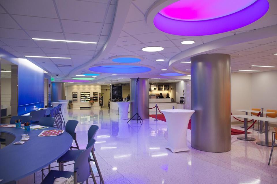 Dina Rudick/Globe Staff A view of Boston Children's Hospital's new renovated Food Court, Chef's Playground.