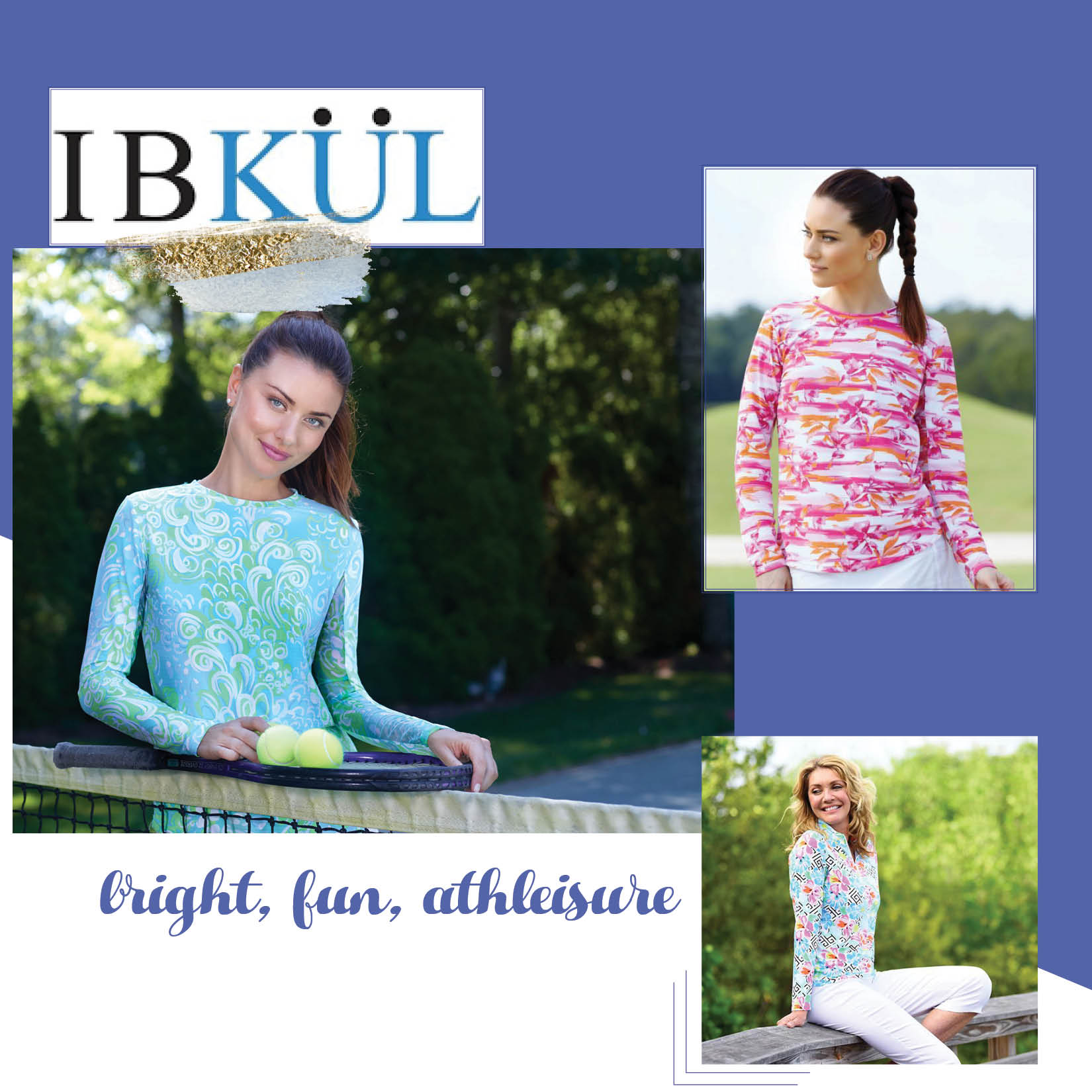 "Ibkul - ""IBKUL"" launched it's opening collection in 2015 with a few woman's specialty shops, country clubs, and golf shops throughout the state of Florida.The main reason for our success is our patented ""IceFil"" high tech fabric. It actually cools the body up to five degrees, maintains a UPF 50 rating along with moisture wicking, and anti microbial features.We have combined this innovative fabric with exclusive bright beautiful resort prints that has taken the activewear market to the next level.Icefil fabric converts sweat into cool energy.Fast drying, moisture wicking fabric.Flat weave and anti-microbial stretch fabric.Mesh underside of sleeve for increased airflow.UPF 50 offers superior sun protection.Ideal for athleisure, beach, boating, golf, pool, or an extra layer on cooler days/nights."