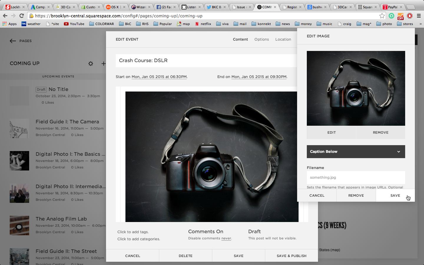 Select OPEN and then press SAVE on the image dialog box lower right hand corner