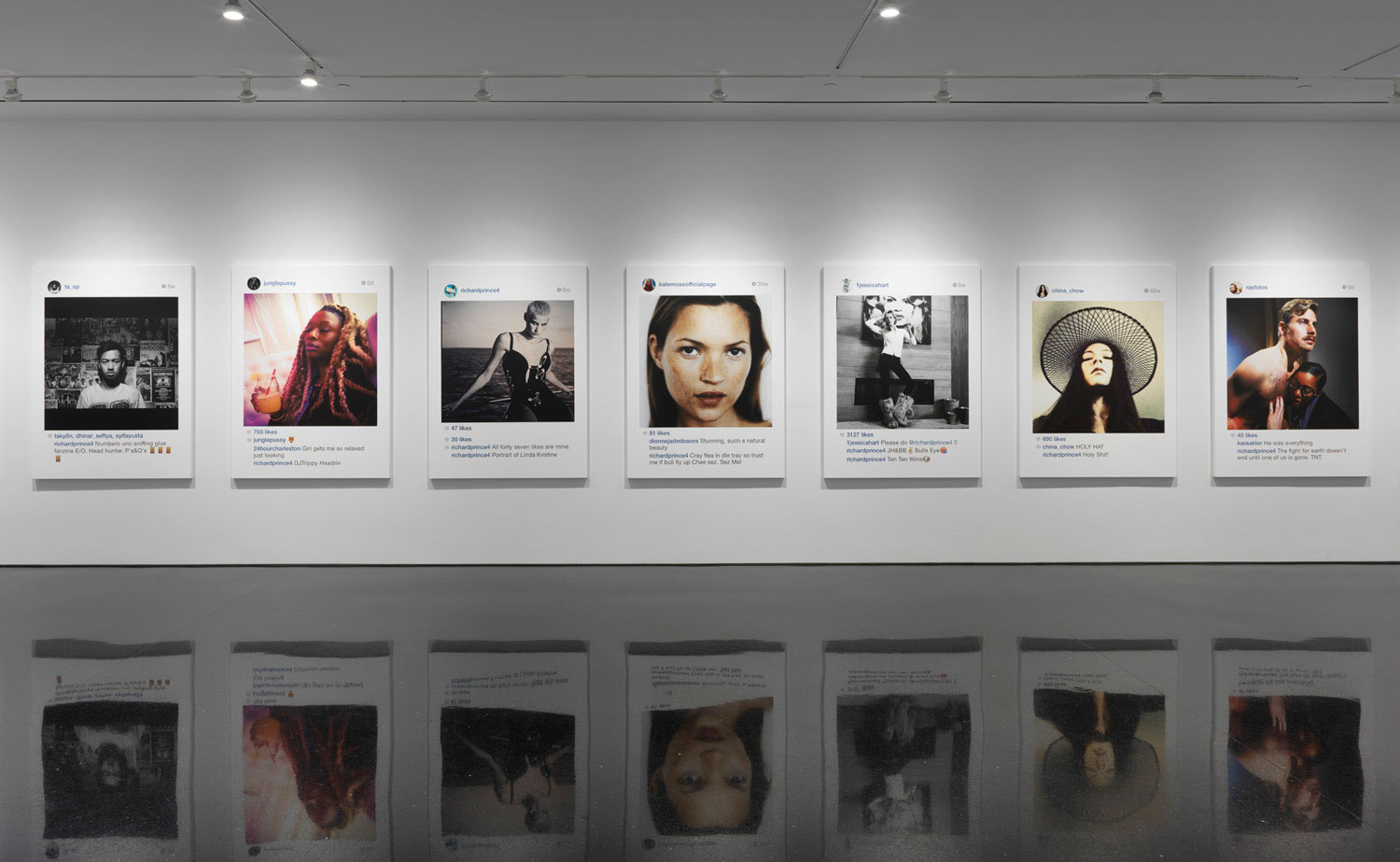 "Richard Prince's ""New Portraits"" at Gagosian Gallery, 2014"