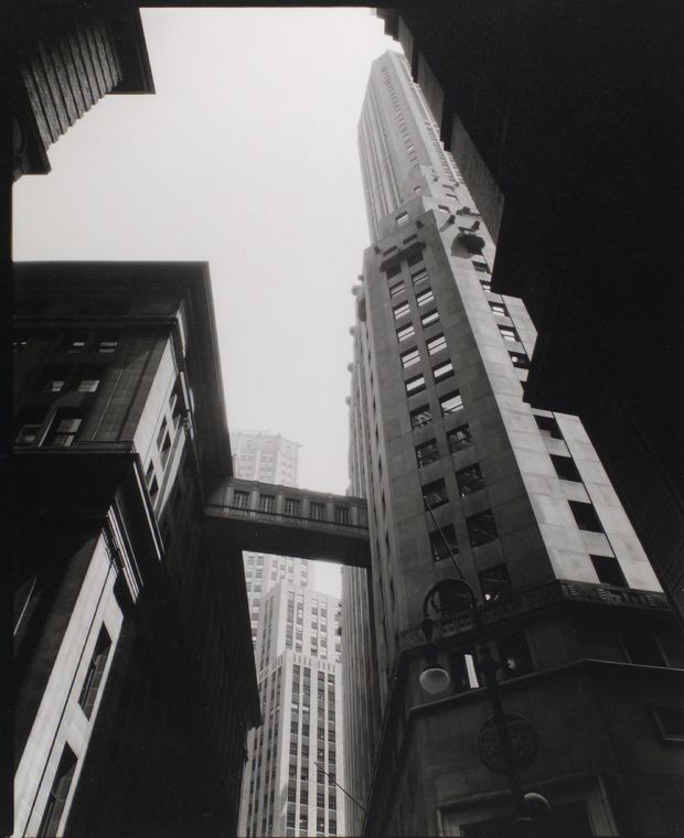Berenice Abbott - Stone and William Street - from Changing New York (1936-38)