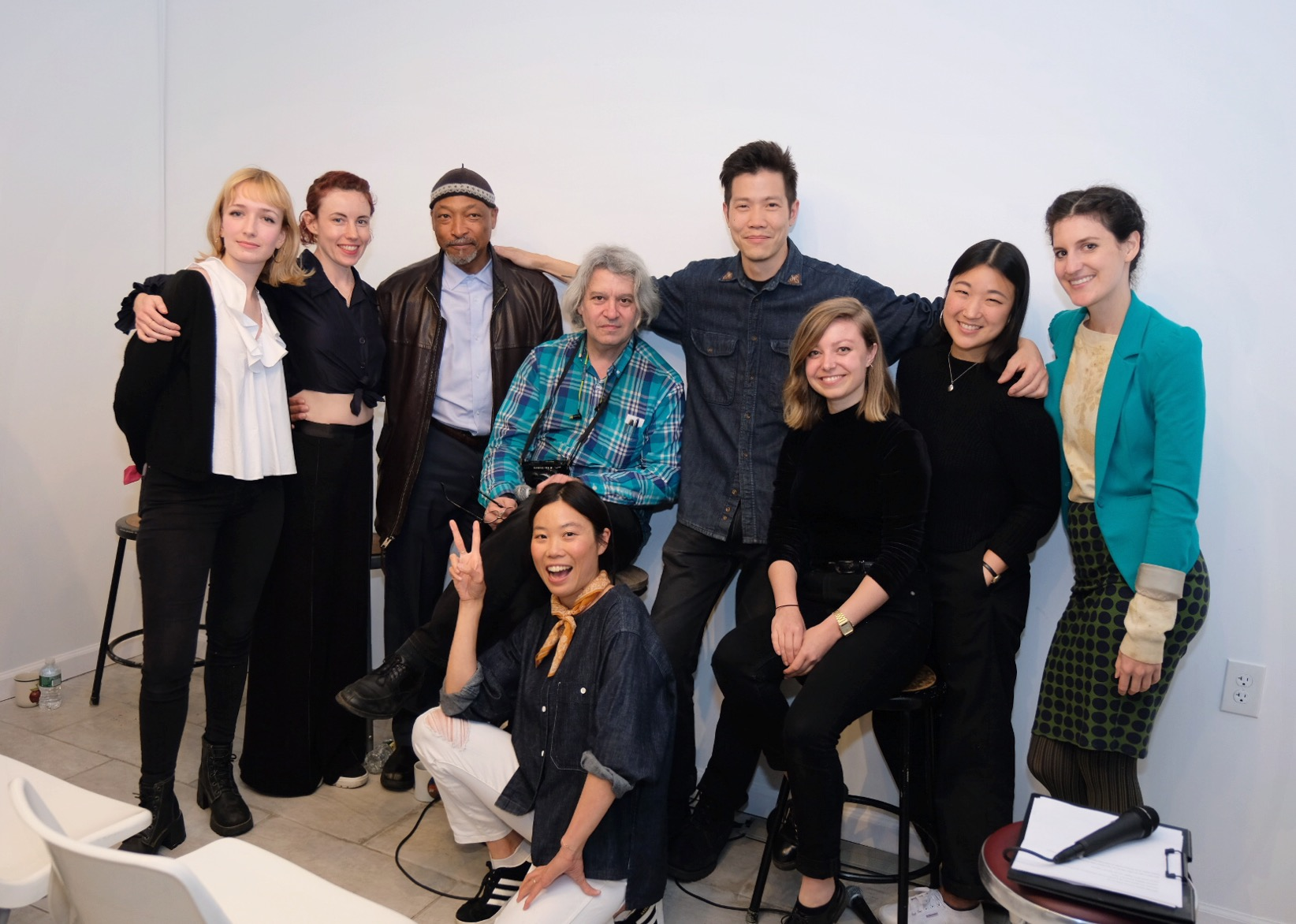 Analog Group Photo! Pictured from left to right: Fiona Veronique, Megan Mack, Lonnie Graham, Geoffrey Berliner, Lanna Apisukh, Justin Lin, Birgit Buchart, Rachel Jun and Sina Basila.