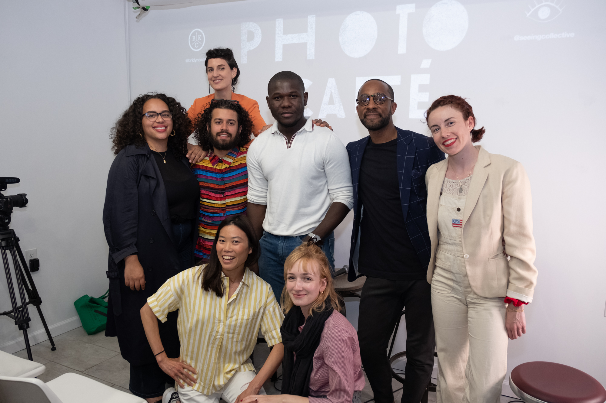 Left to right: Ariana Faye Allensworth, Sina Basila, Christian Rodriguez, Lanna Apisukh, Richard Akuson, Fiona Szende, Jai Lennard, Megan Megan. Thank you to Justin Lin for capturing this moment!