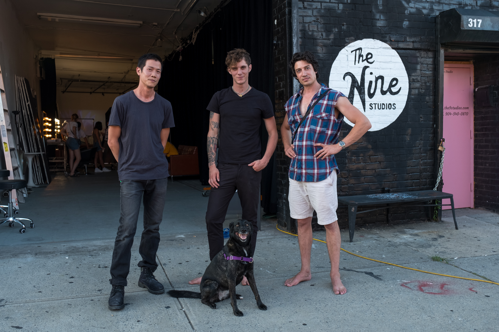 Justin + Leila with Charlie & Matt, owners of  The Nine Studios .