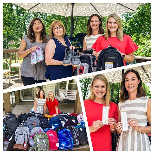 Our Humanility kids will each receive a new backpack and sneakers due to the generosity of these two lovely ladies of the Kind Hearts Project and parents and kids who care! We thank you from the bottom of our hearts! #kindheartsproject #humanility #nashvillecares #bybellajewelryforacause