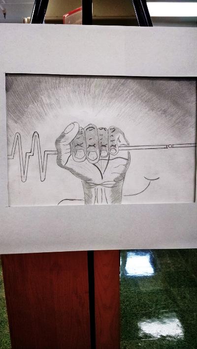 Captivating artwork from a Stratford STEM freshman