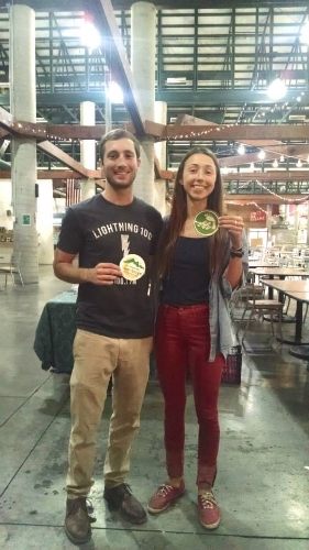 Matt of Team Green and Eileen of Urban Green Lab show their Engage Green pride!