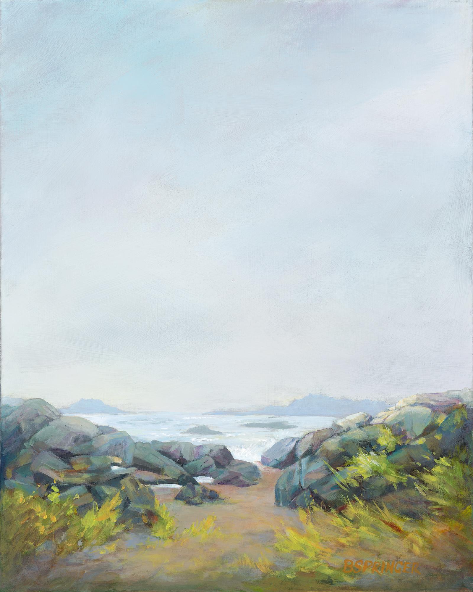 Misty Tofino Beach 16 x 20 Acrylic