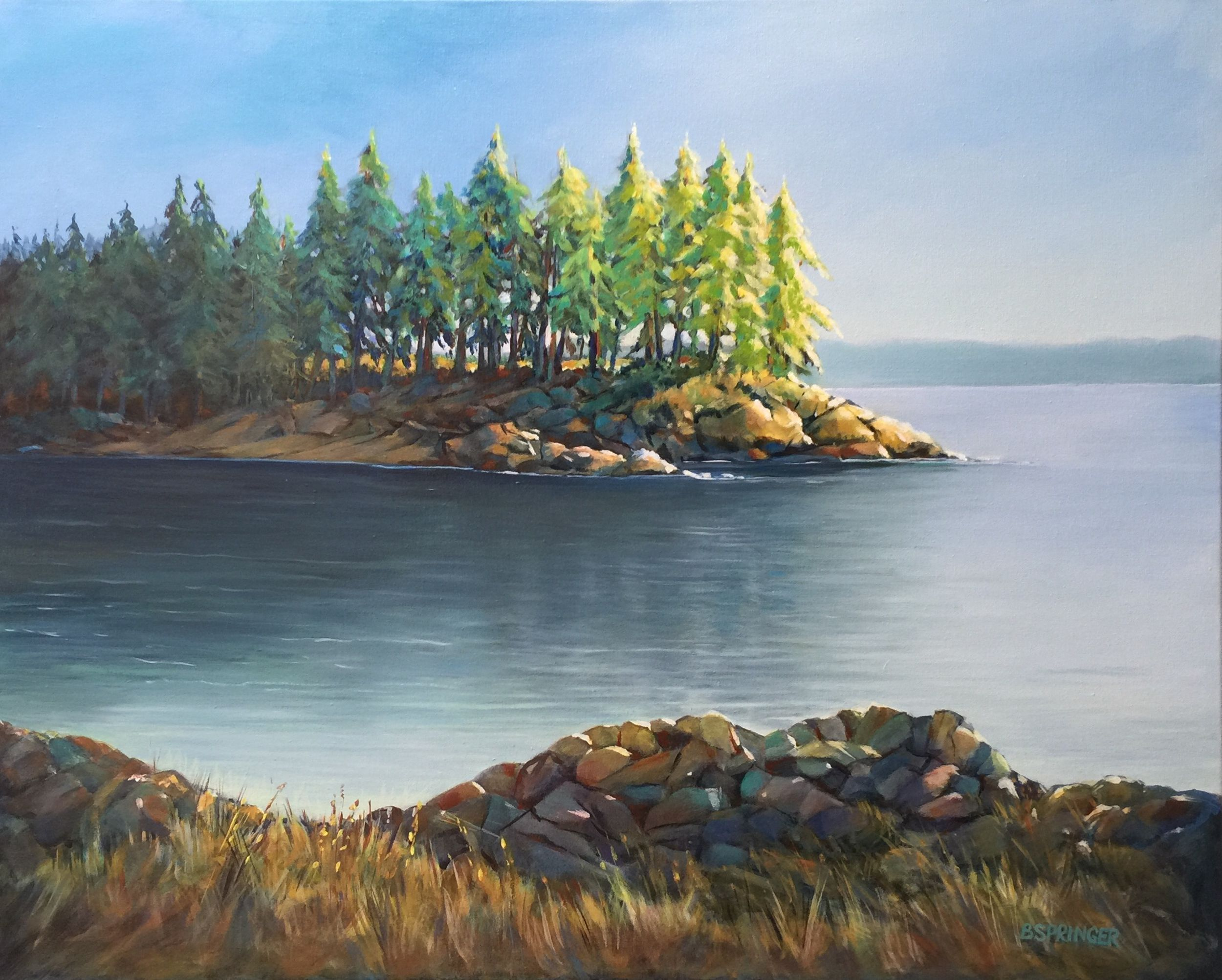 Deep Cove After Lunch - 30 x 24 - Acrylic