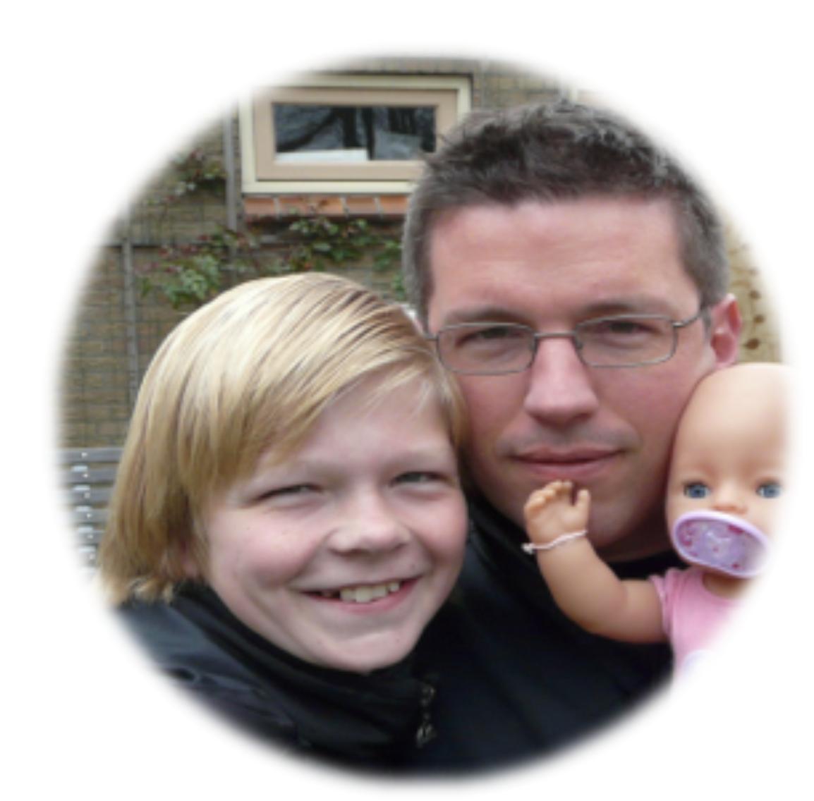 Rowan met zijn vader Thijs