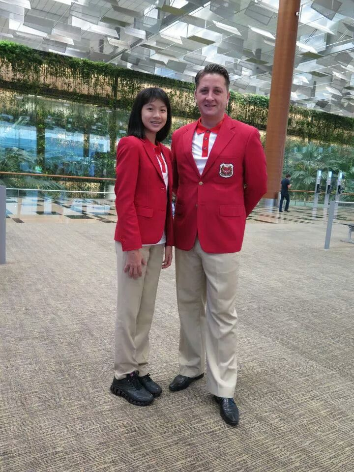 Ywen leaving for Korea with our National Coach, Andras Decsi