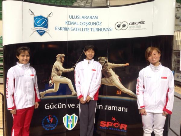 Sharmaine, Ywen and Ann at the FIE Satelite in Bursa, Turkey
