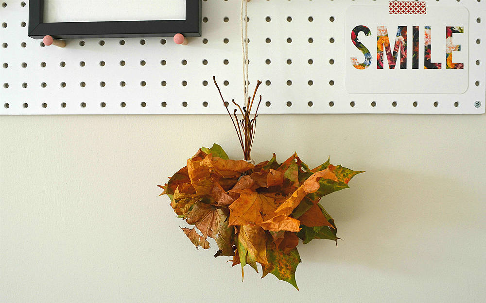 The Ordinary Lovely Autumn Pegboard Display