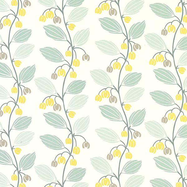 The Ordinary Lovely: Laura Ashley Spring Trail Duck Egg Blue Foral Wallpaper