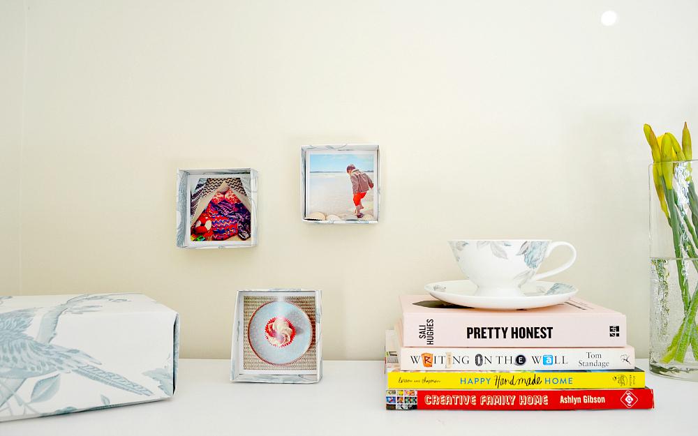 The Ordinary Lovely: Easy to make wallpaper box frames