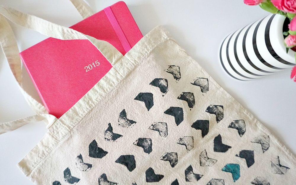 The Ordinary Lovely: Potato print tote bag