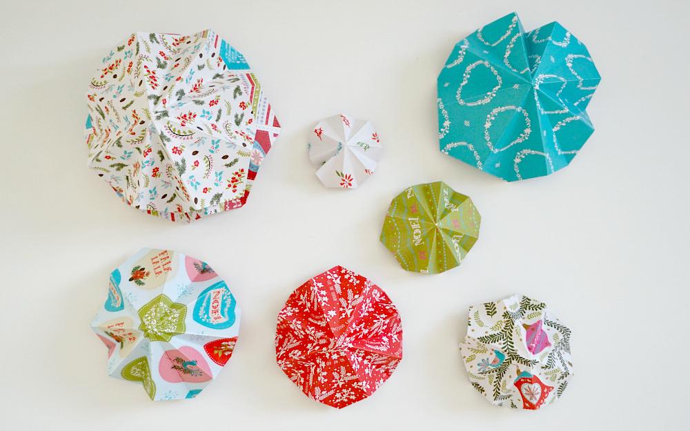 The Ordinary Lovely: Origami Christmas tree