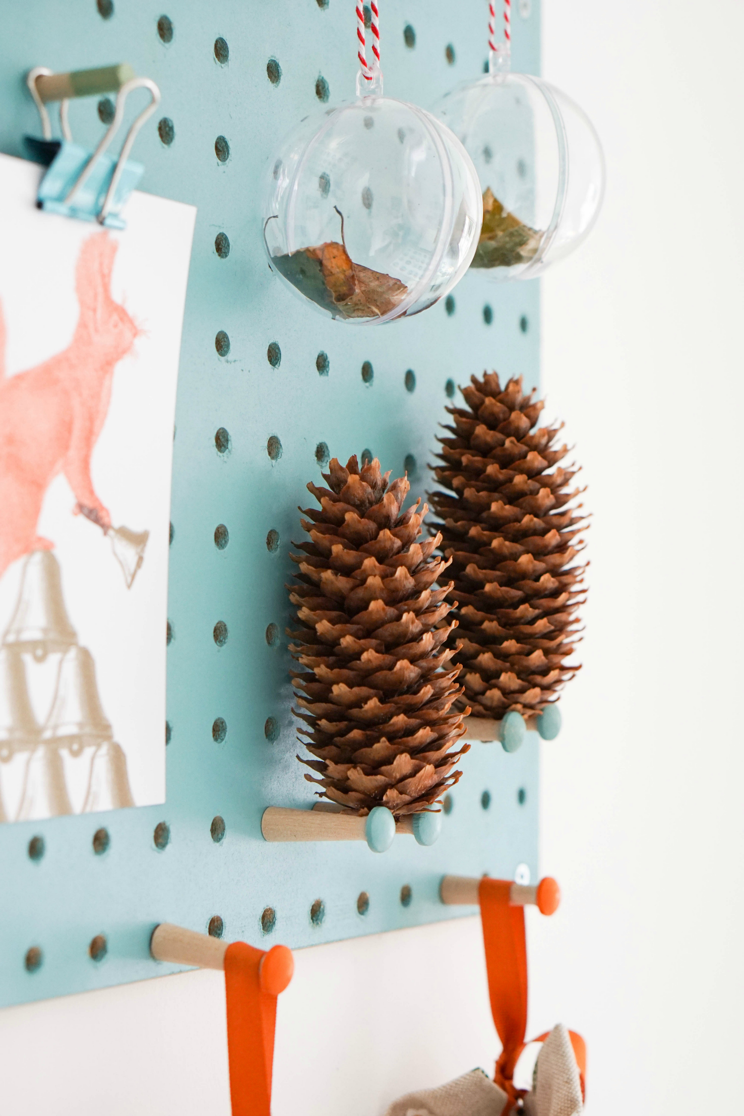 The Ordinary Lovely: Styling a pegboard for autumn