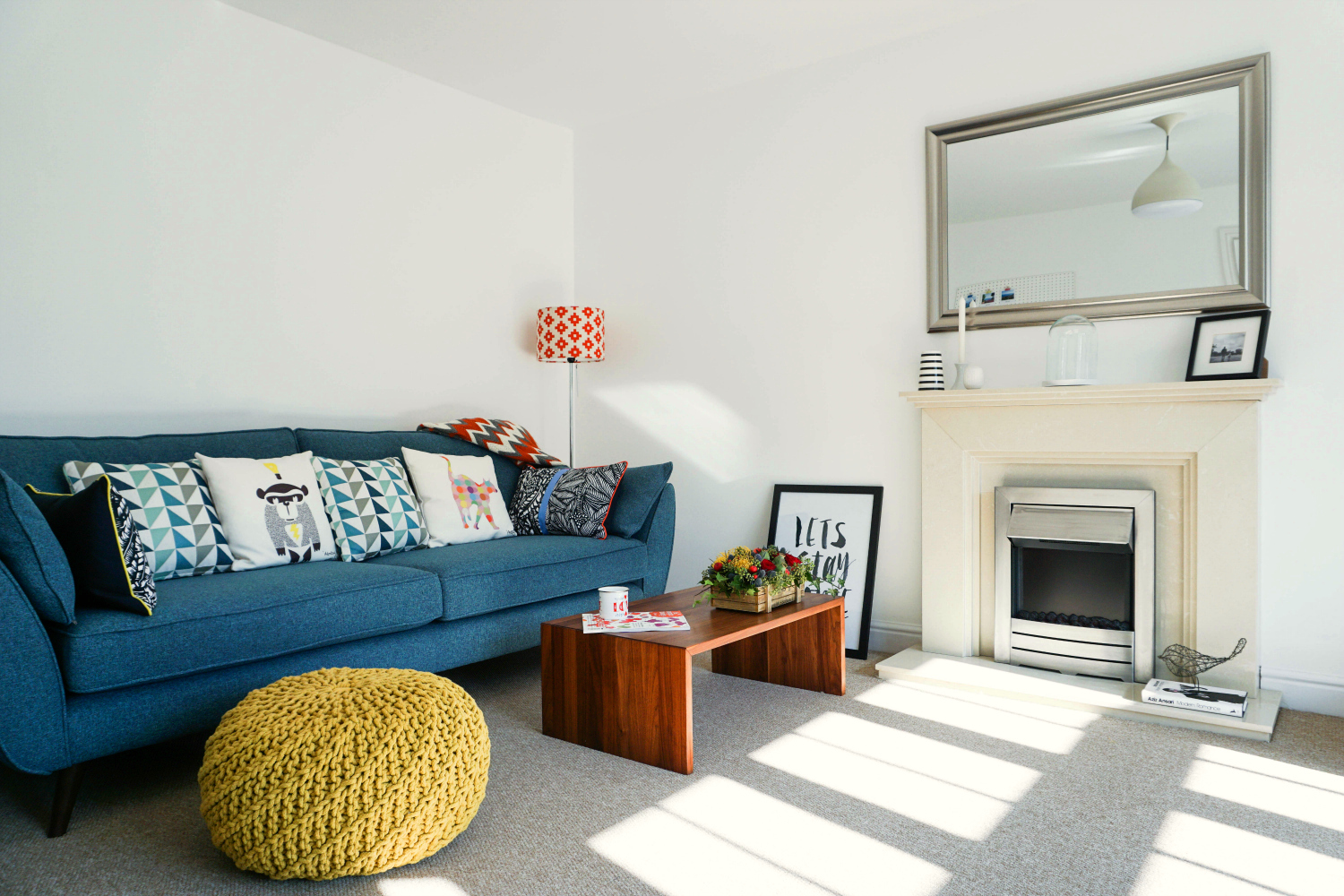 The Ordinary Lovely: A colourful living room