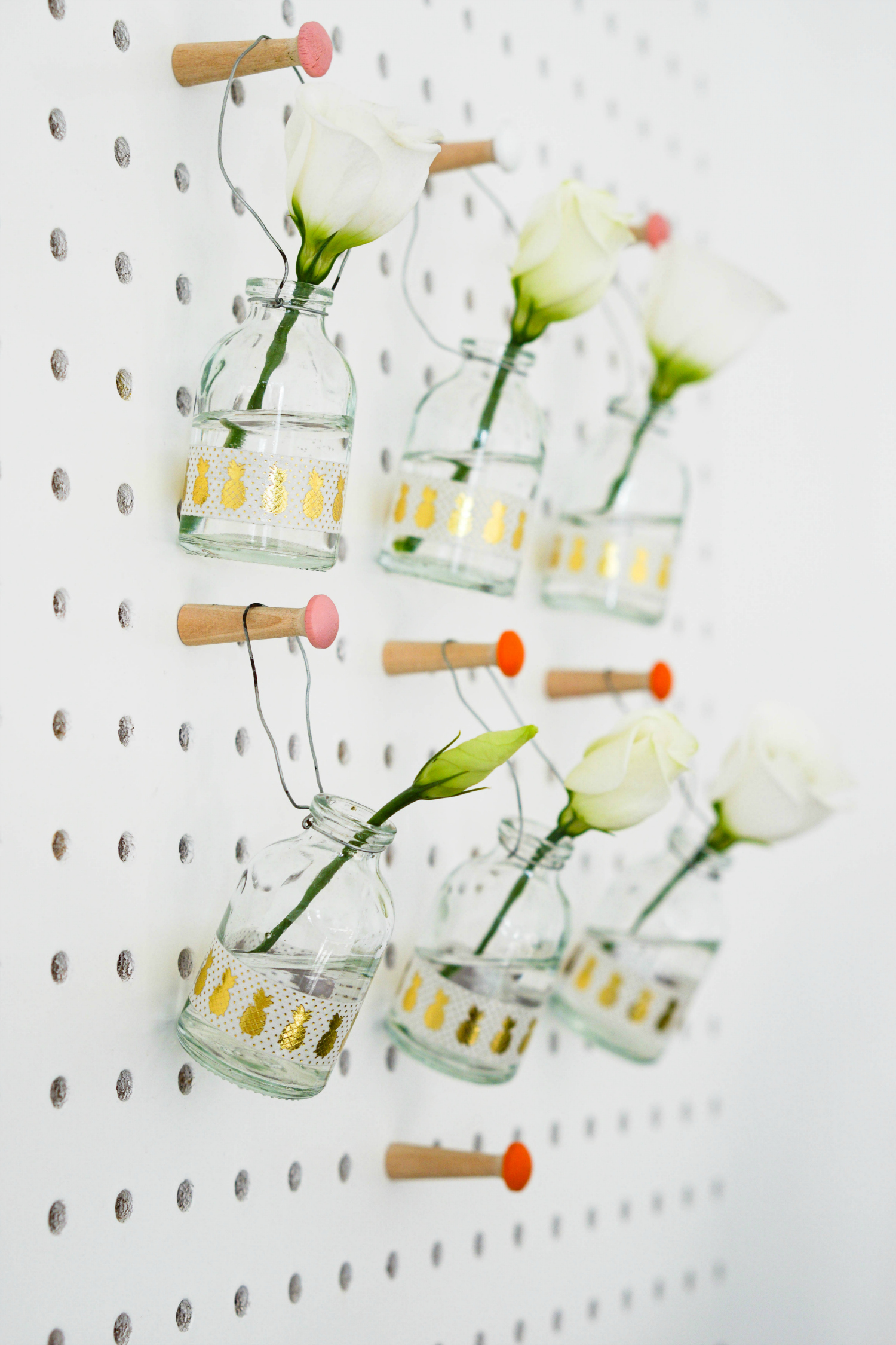 The Ordinary Lovely: Simple pegboard styling to welcome spring