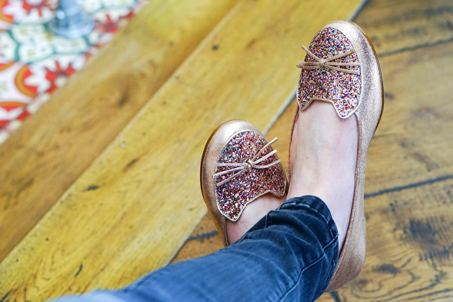 I take cats on coffee dates - cat ballet flats from Boden