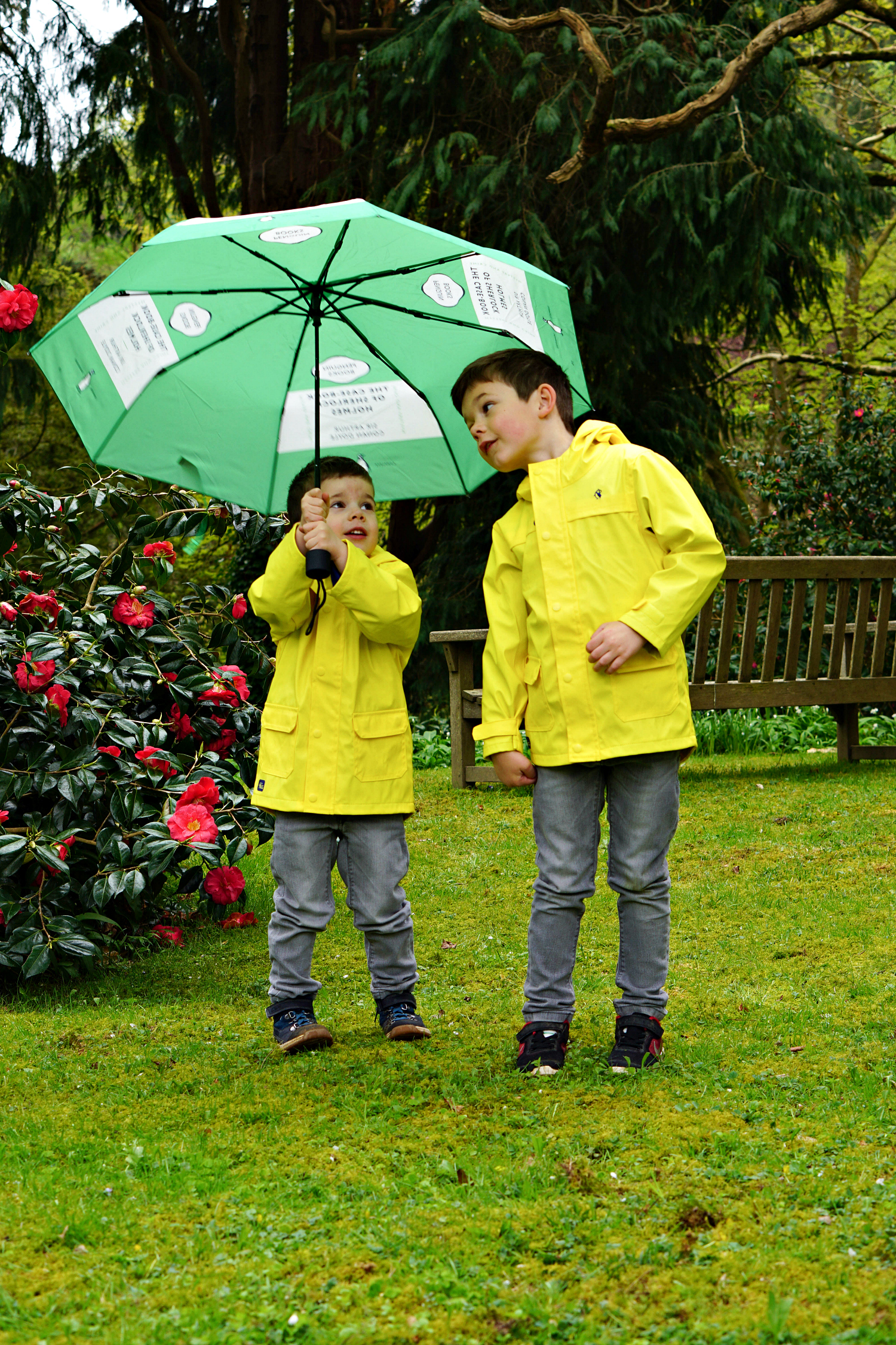 The Case-Book of Sherlock Holmes umbrella  was a gift from Penguin. My two are obsessed with it.