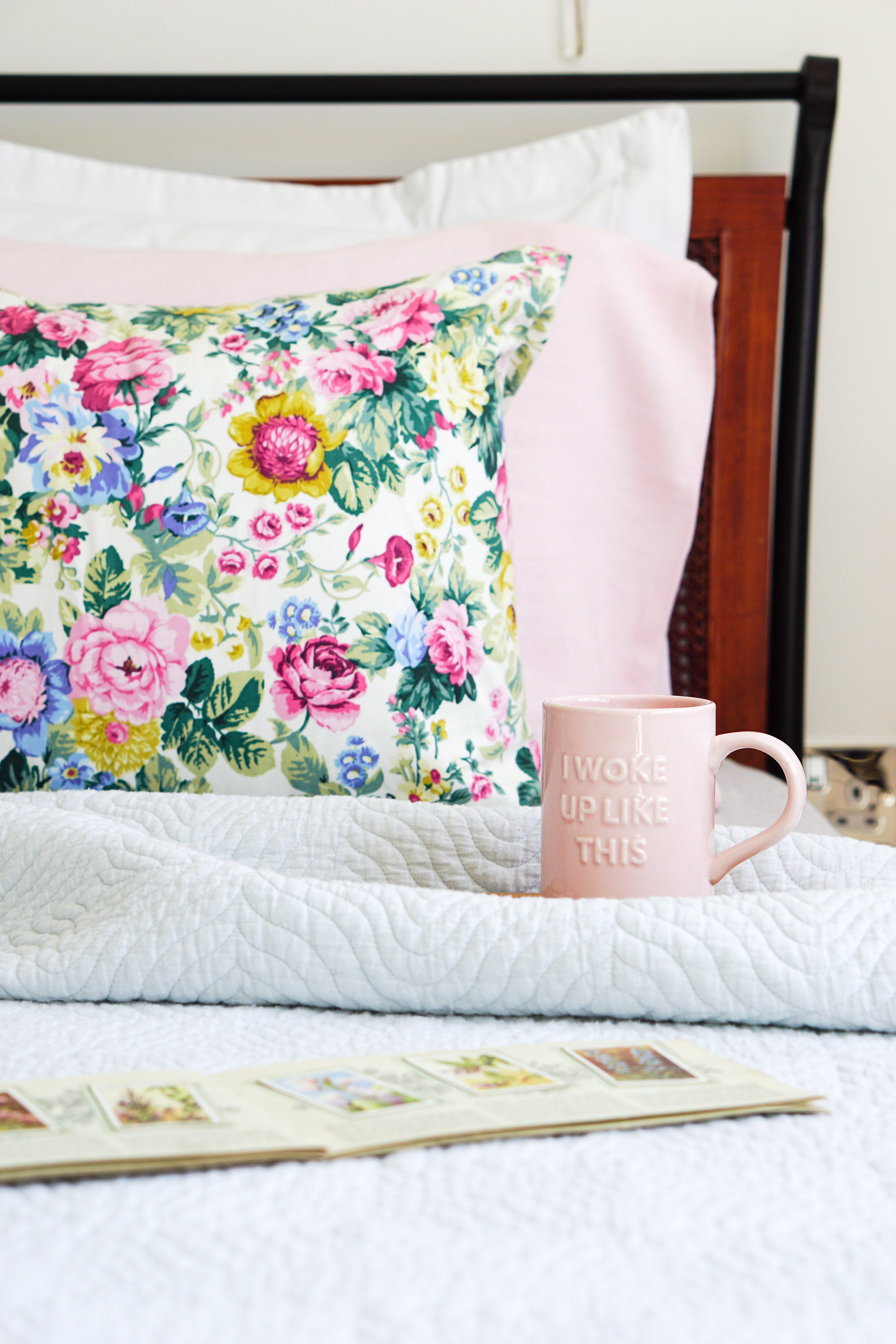 A mini bedroom makeover with pretty pastels