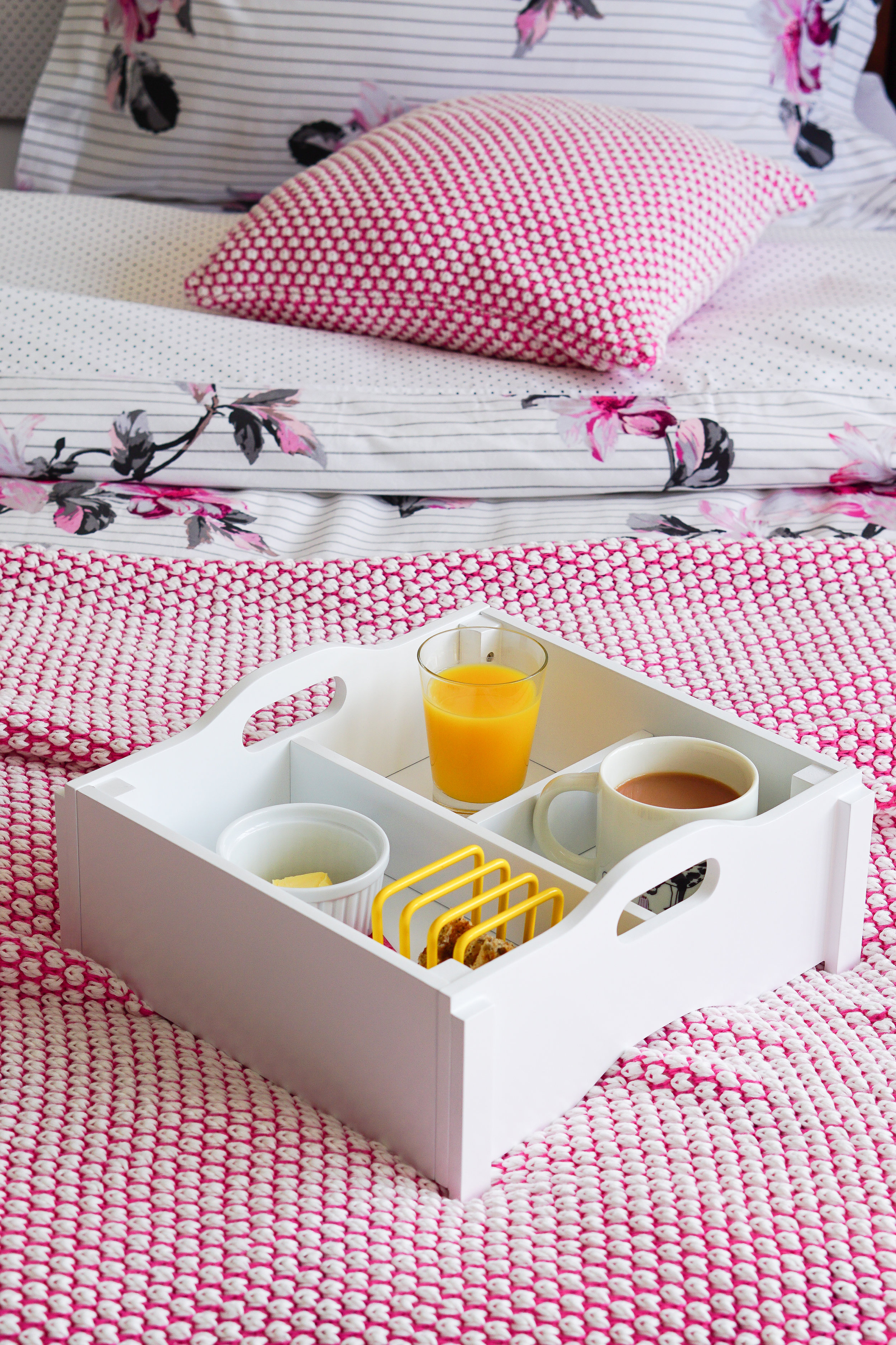 When toy storage doubles up as a super cute breakfast in bed tray