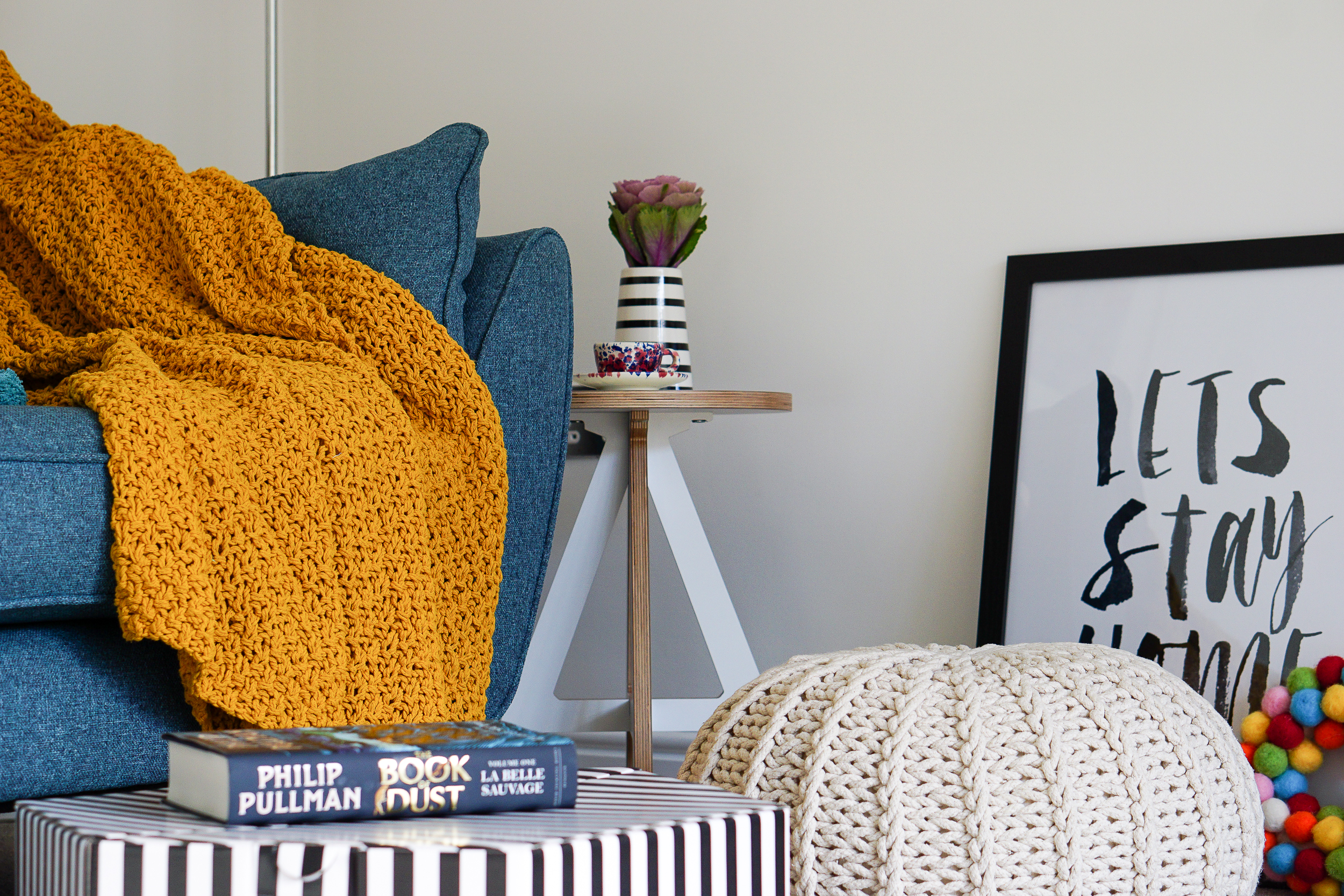 My colourful living room corner
