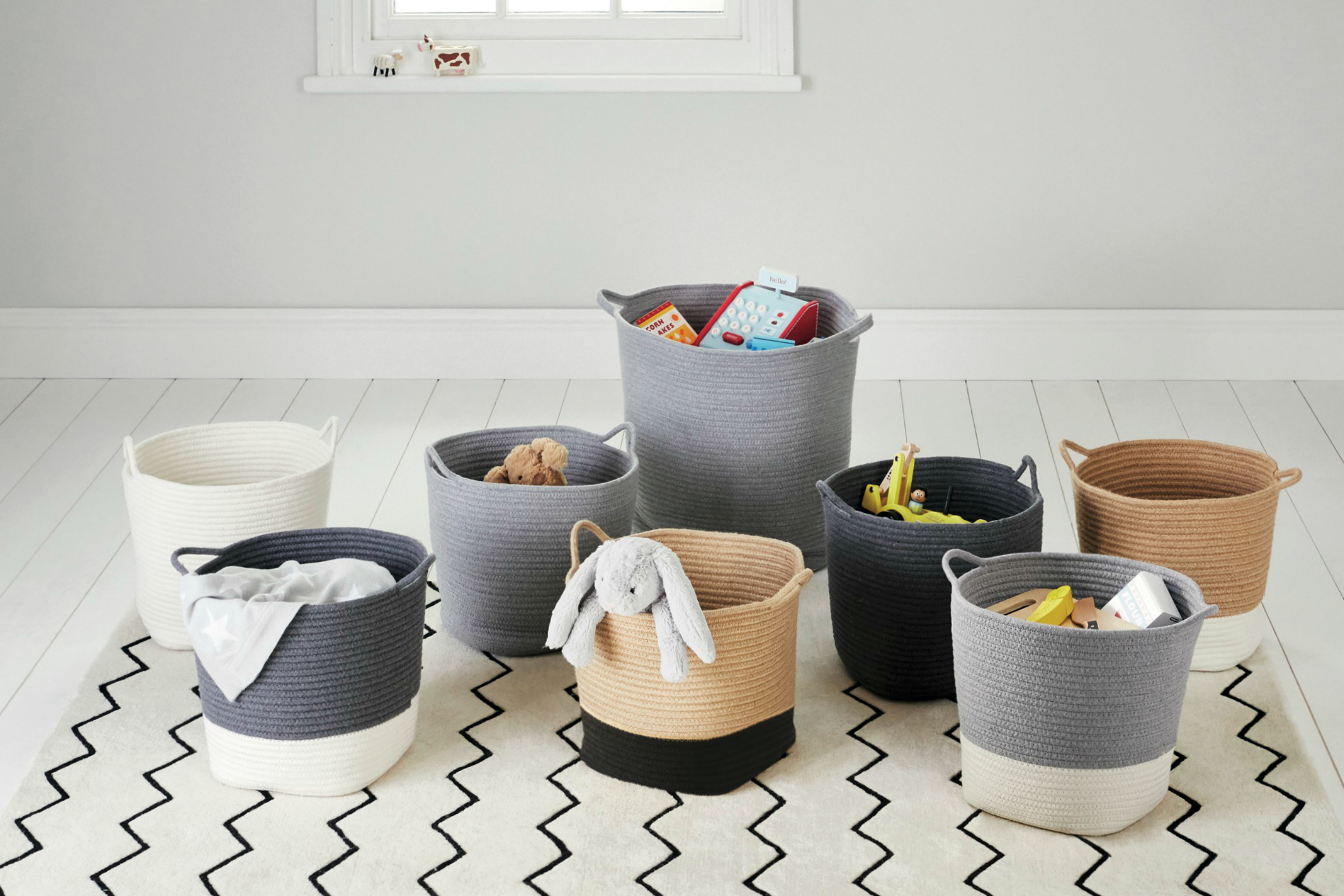 Great Little Trading Co. rope storage baskets