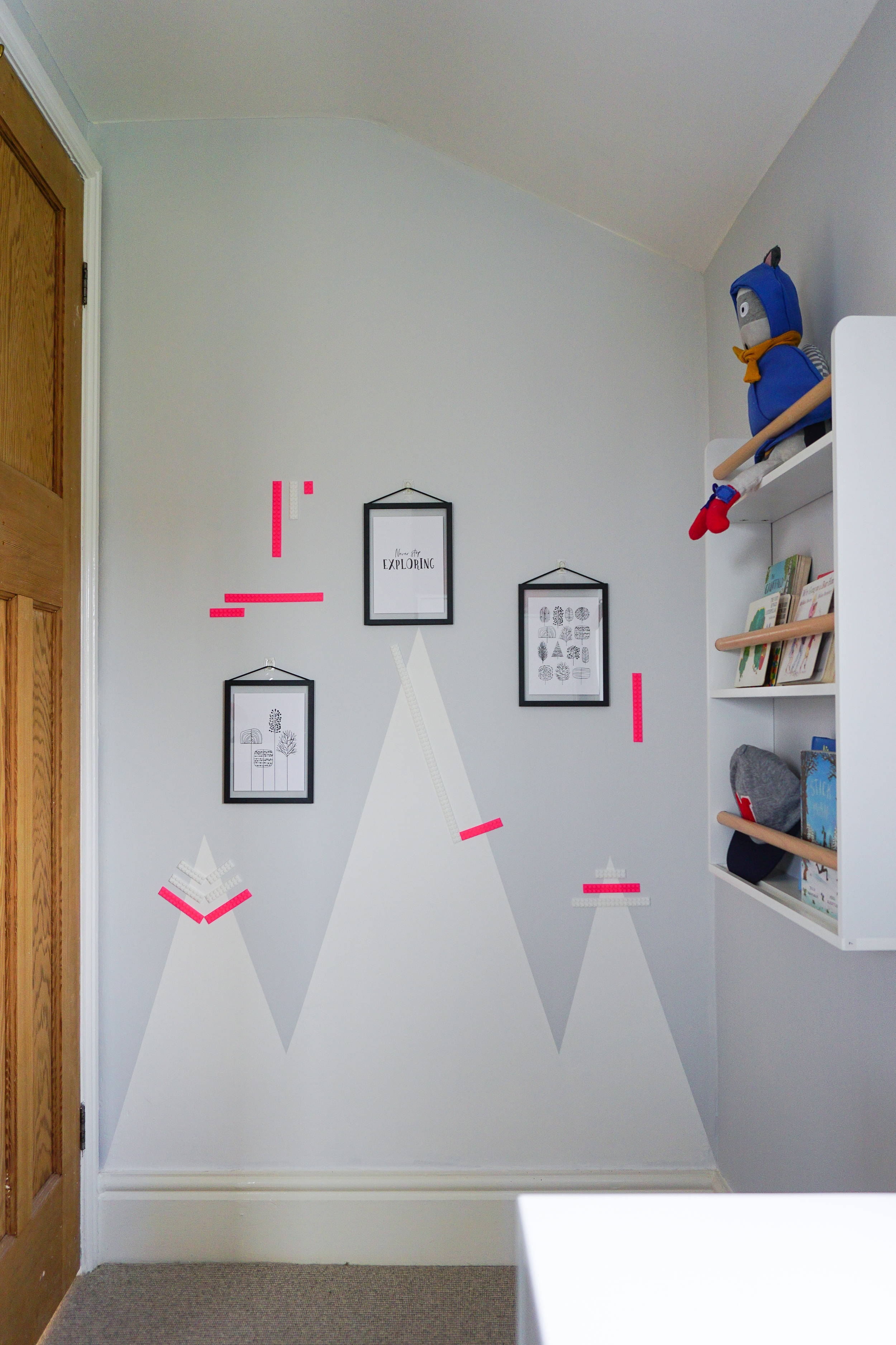 A Children's 'Never Stop Exploring' Wall