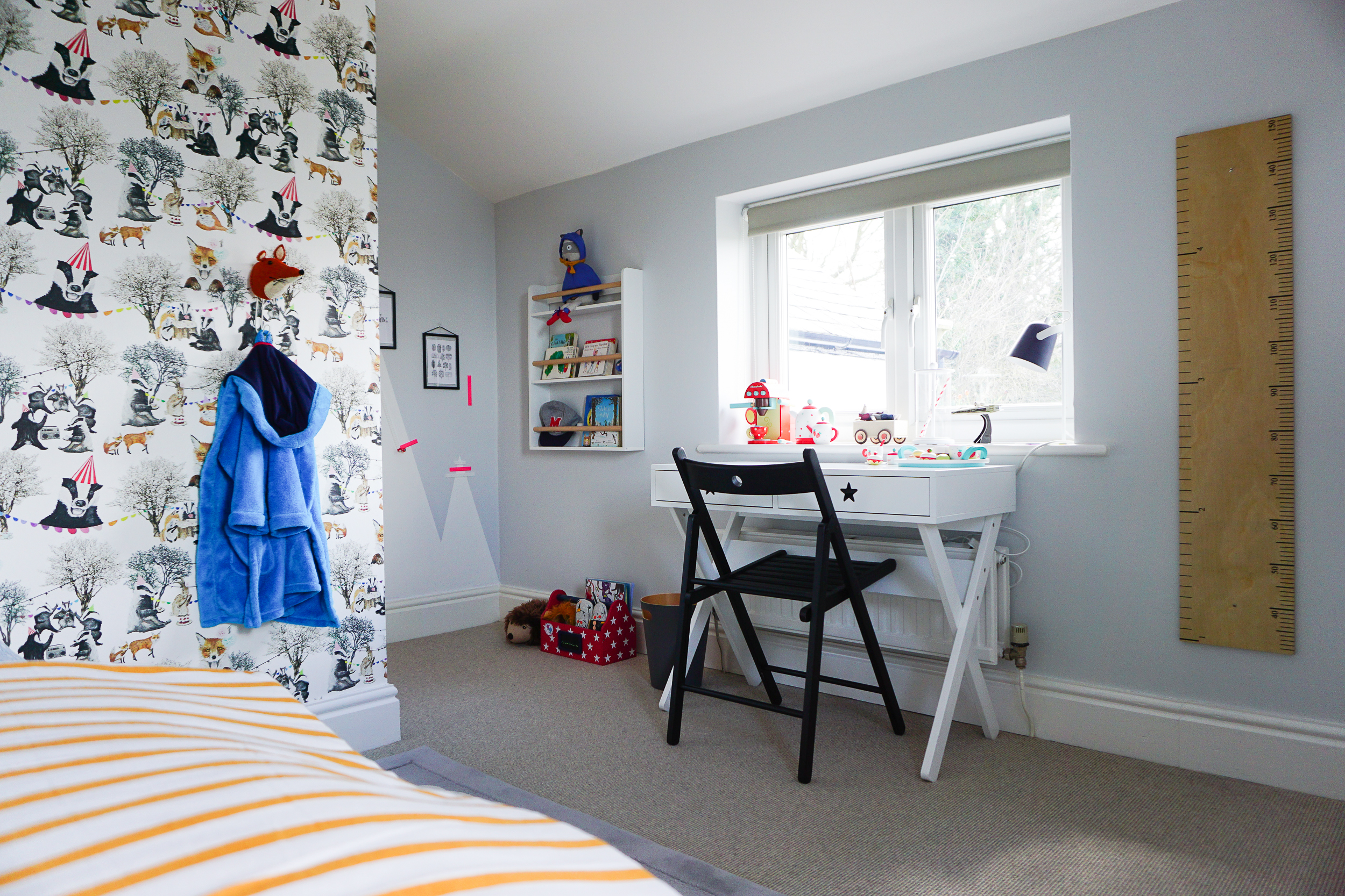 Woodland rave ... a wild but whimsical little boy's bedroom