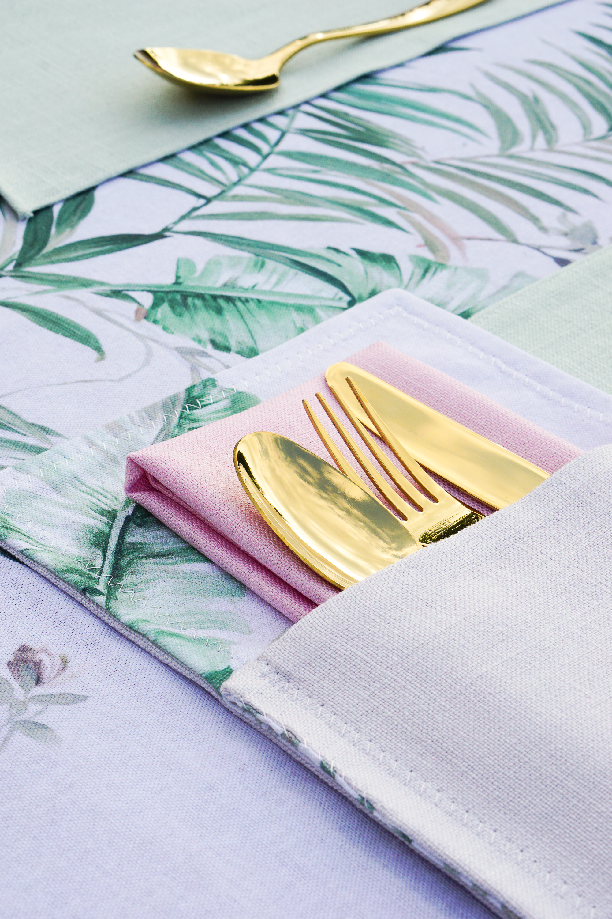 Pink and green should ALWAYS be seen - sew your own garden-inspired table linen