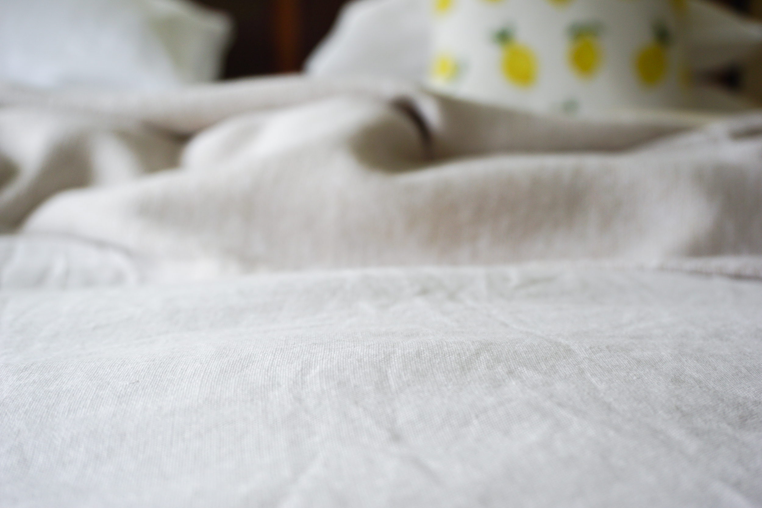 A love of white bed linen (no, not the perfume)
