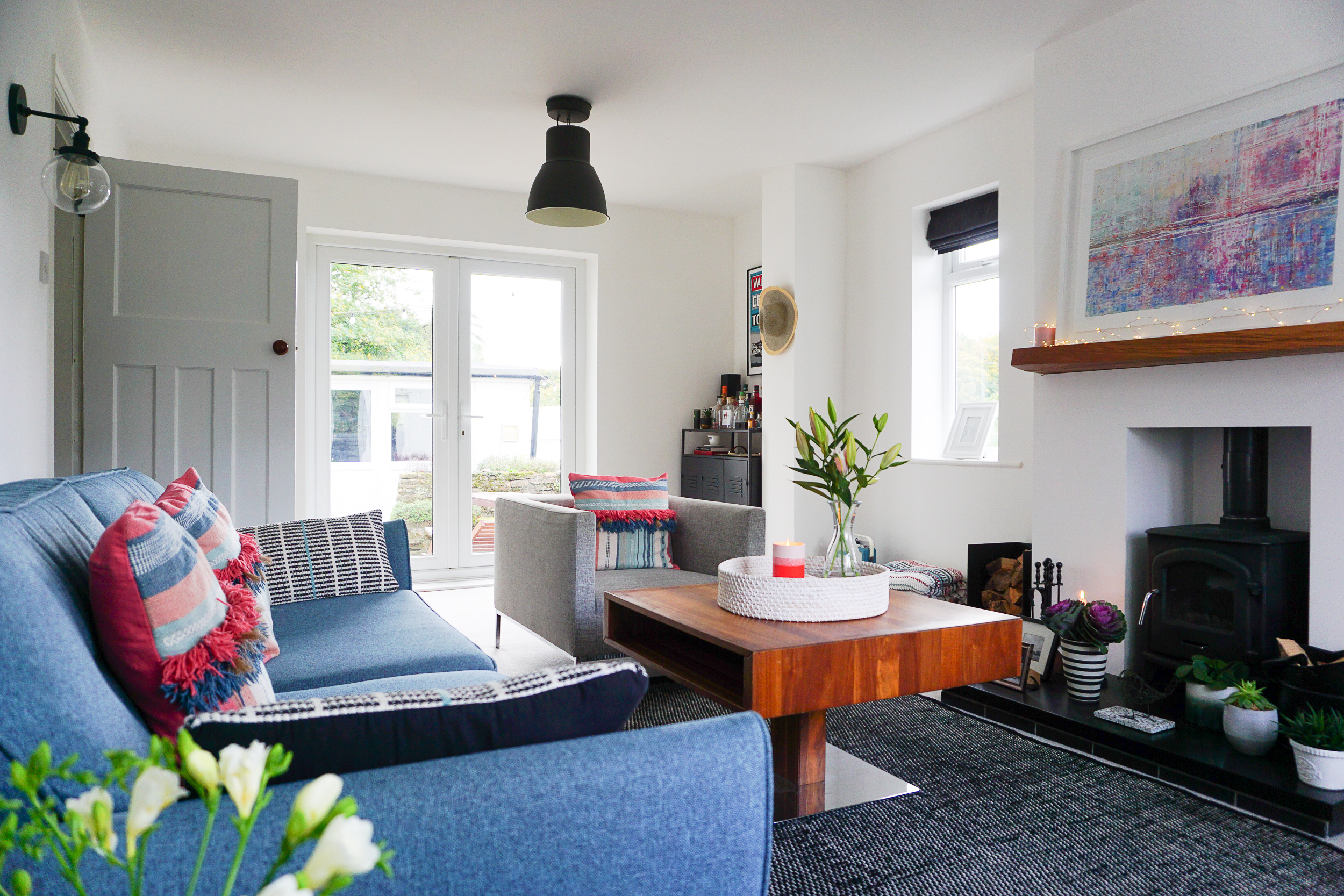 My colourful countryside living room