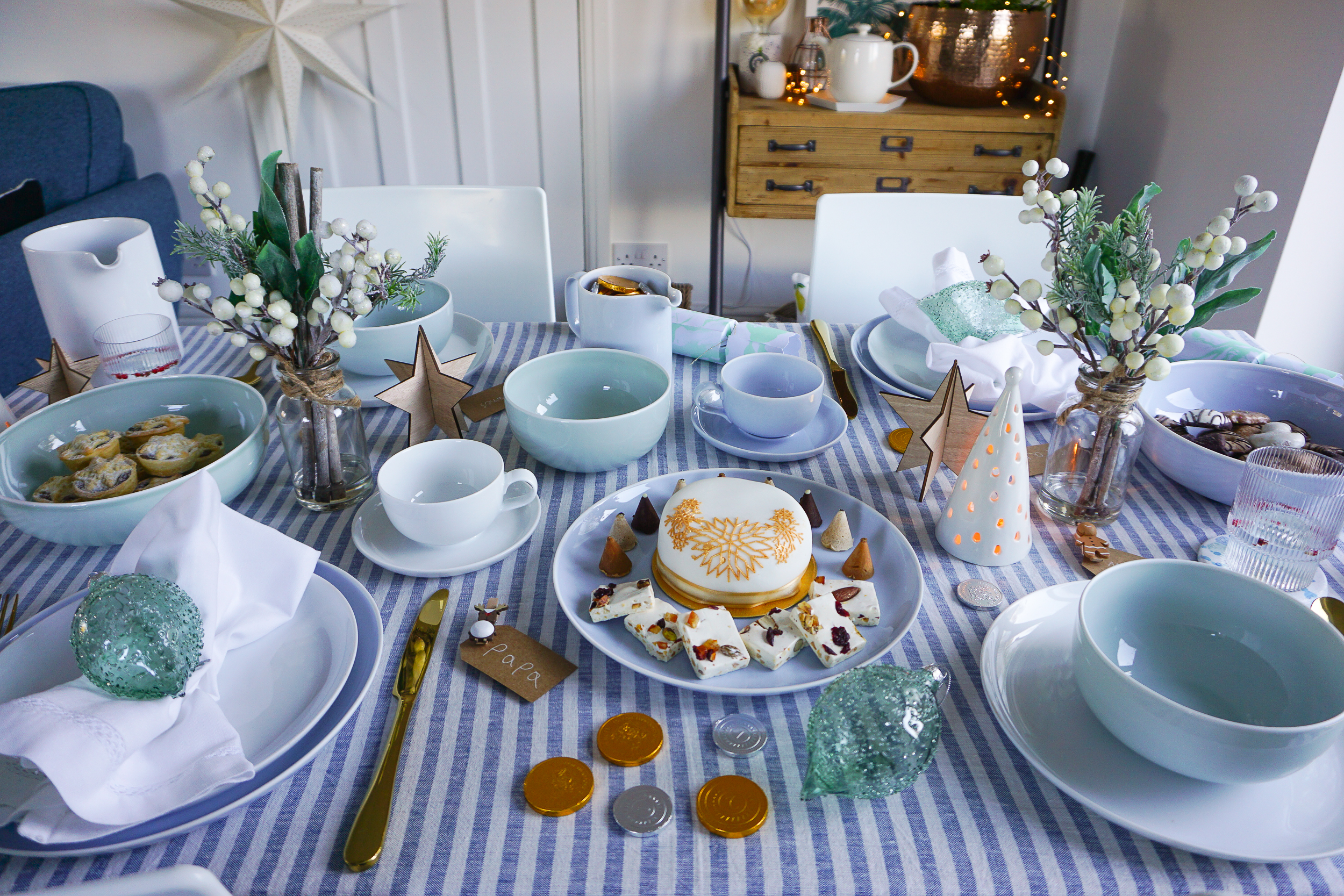 A family-friendly Scandi Christmas table with Portmeirion pottery