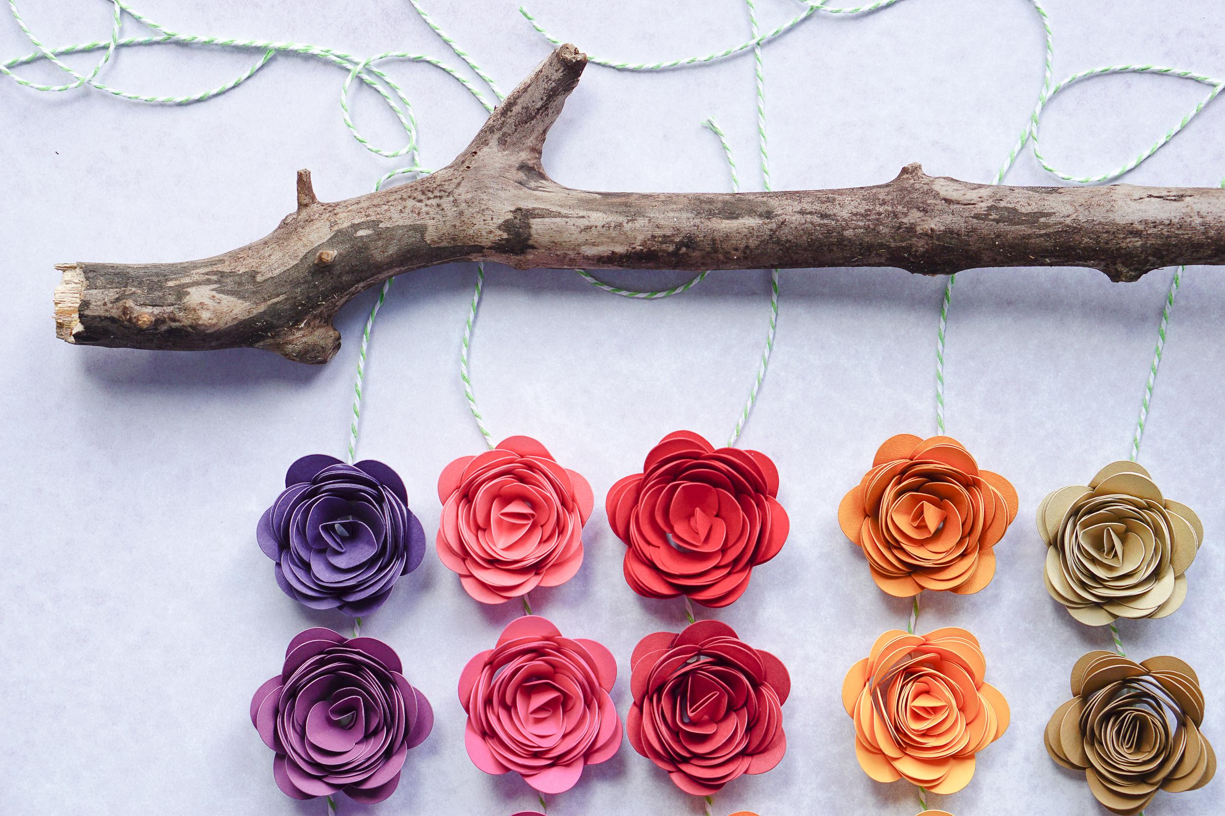 Cricut Maker flower project
