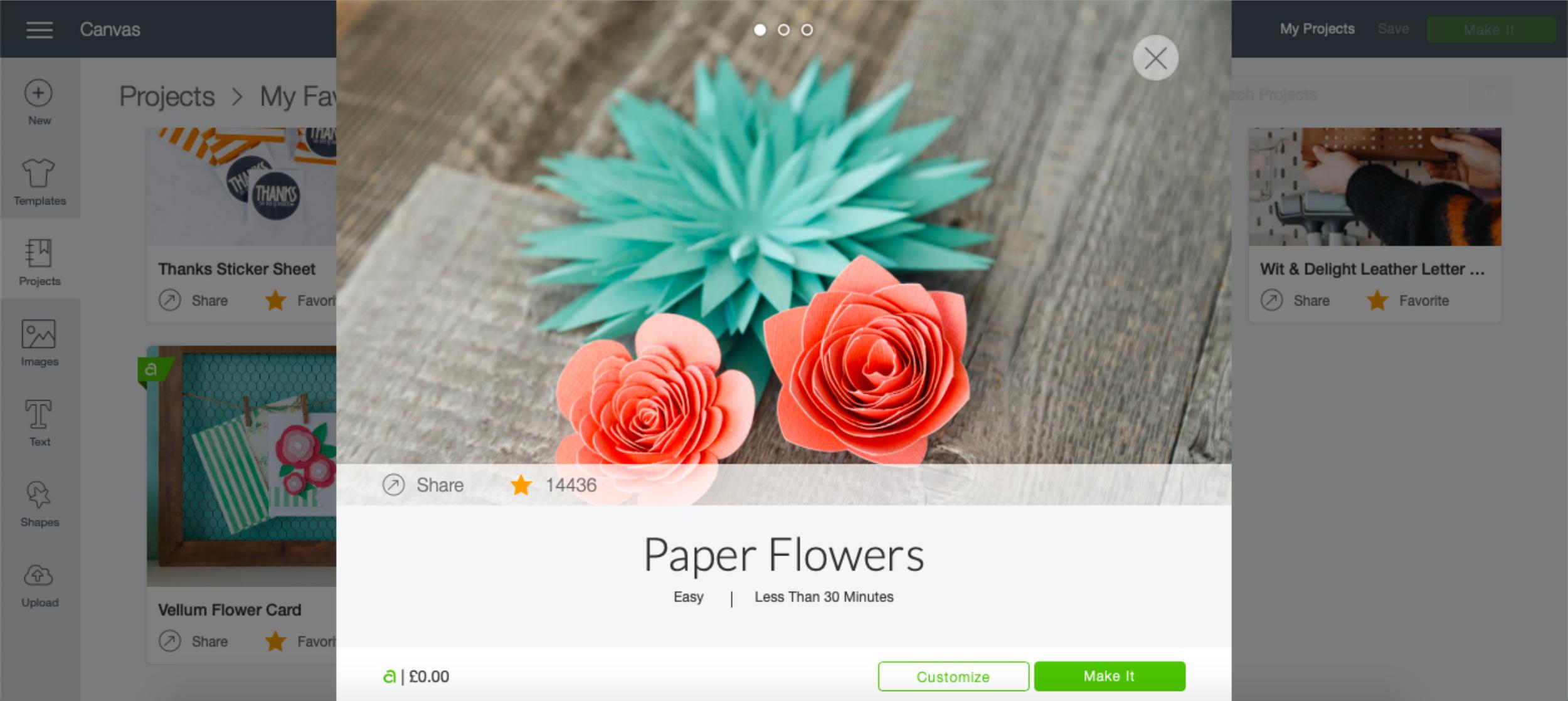 My very first Cricut Maker flower project