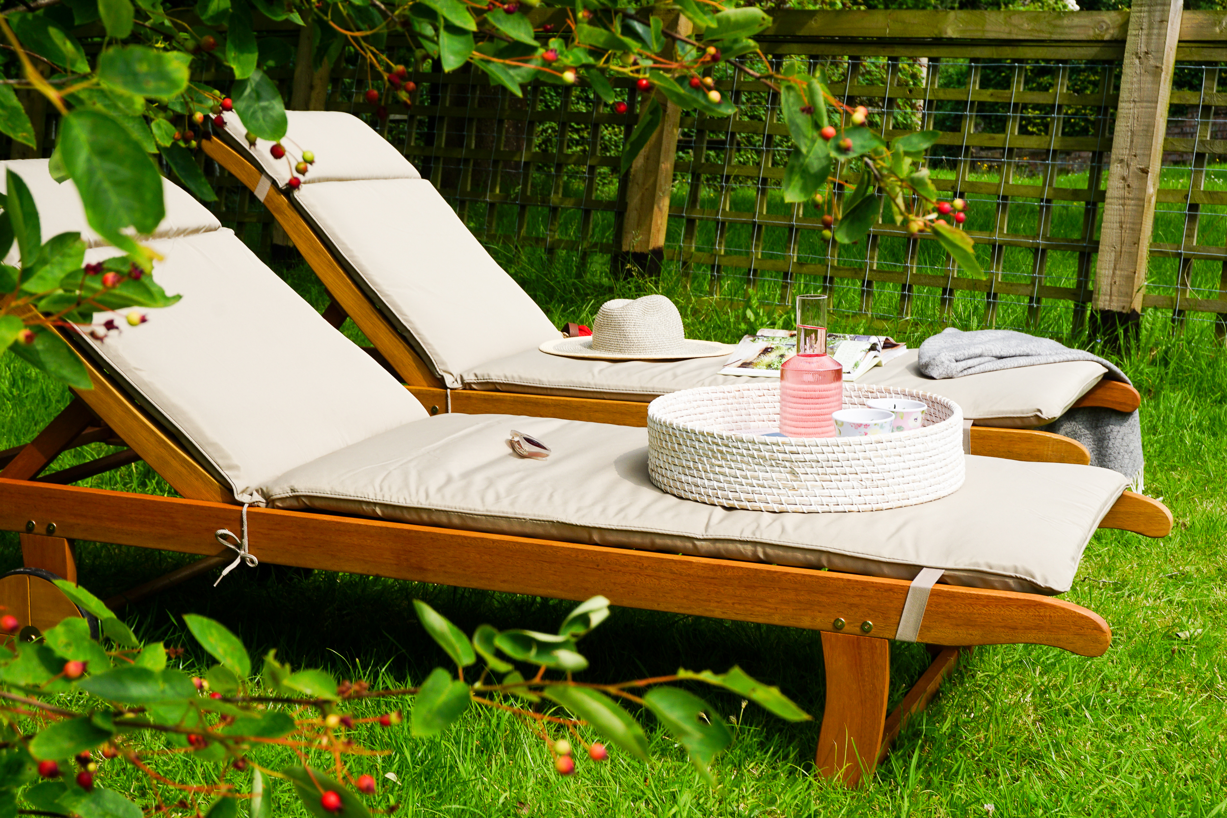 Patio plans and finding a secluded spot for my new sun loungers