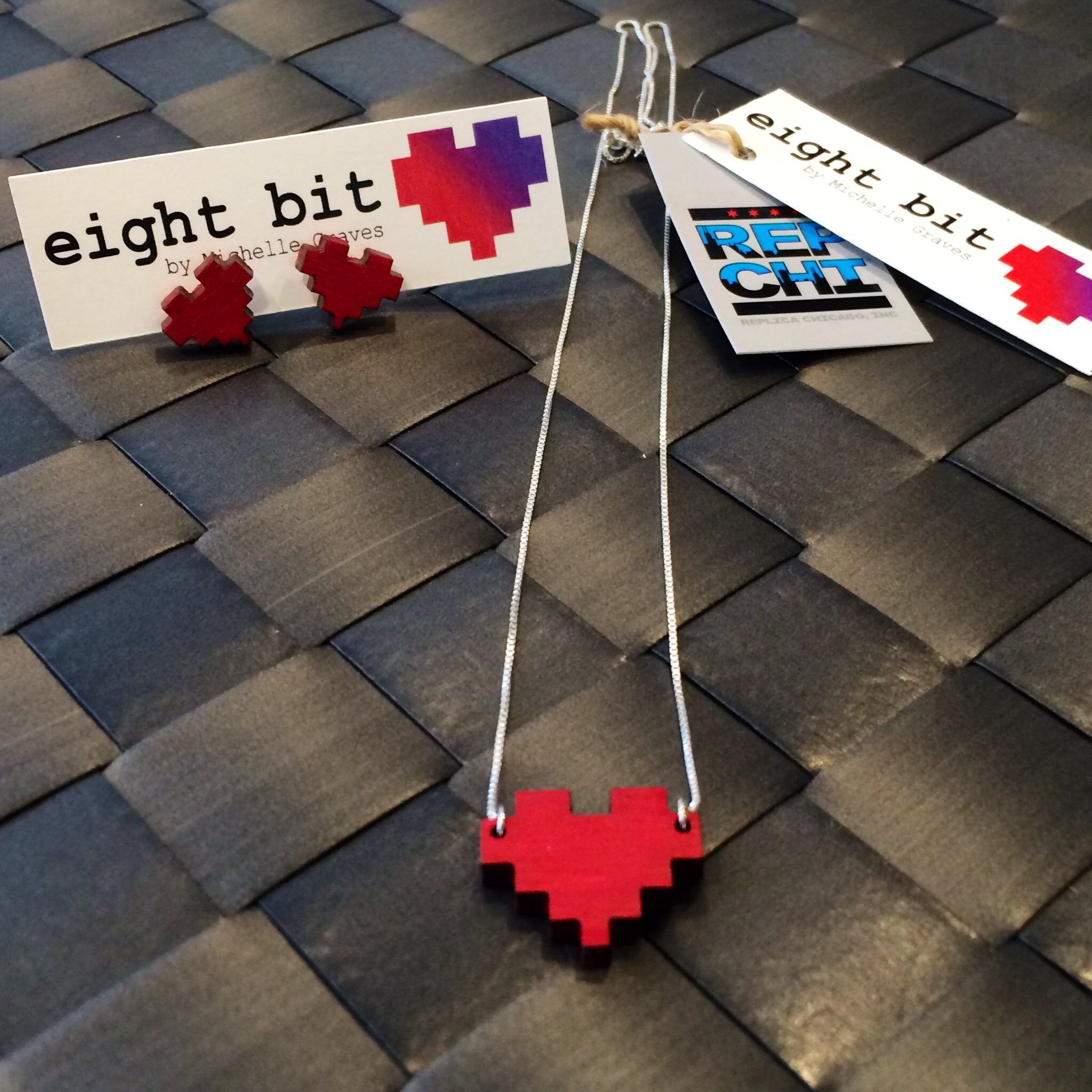 Eight Bit Hearts by our incredibly talented pal, Michelle Graves