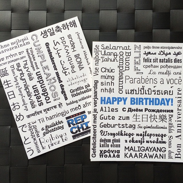 Made more Birthday Languages cards.