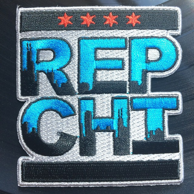 "~3x3"" iron on'able REP CHI patch."