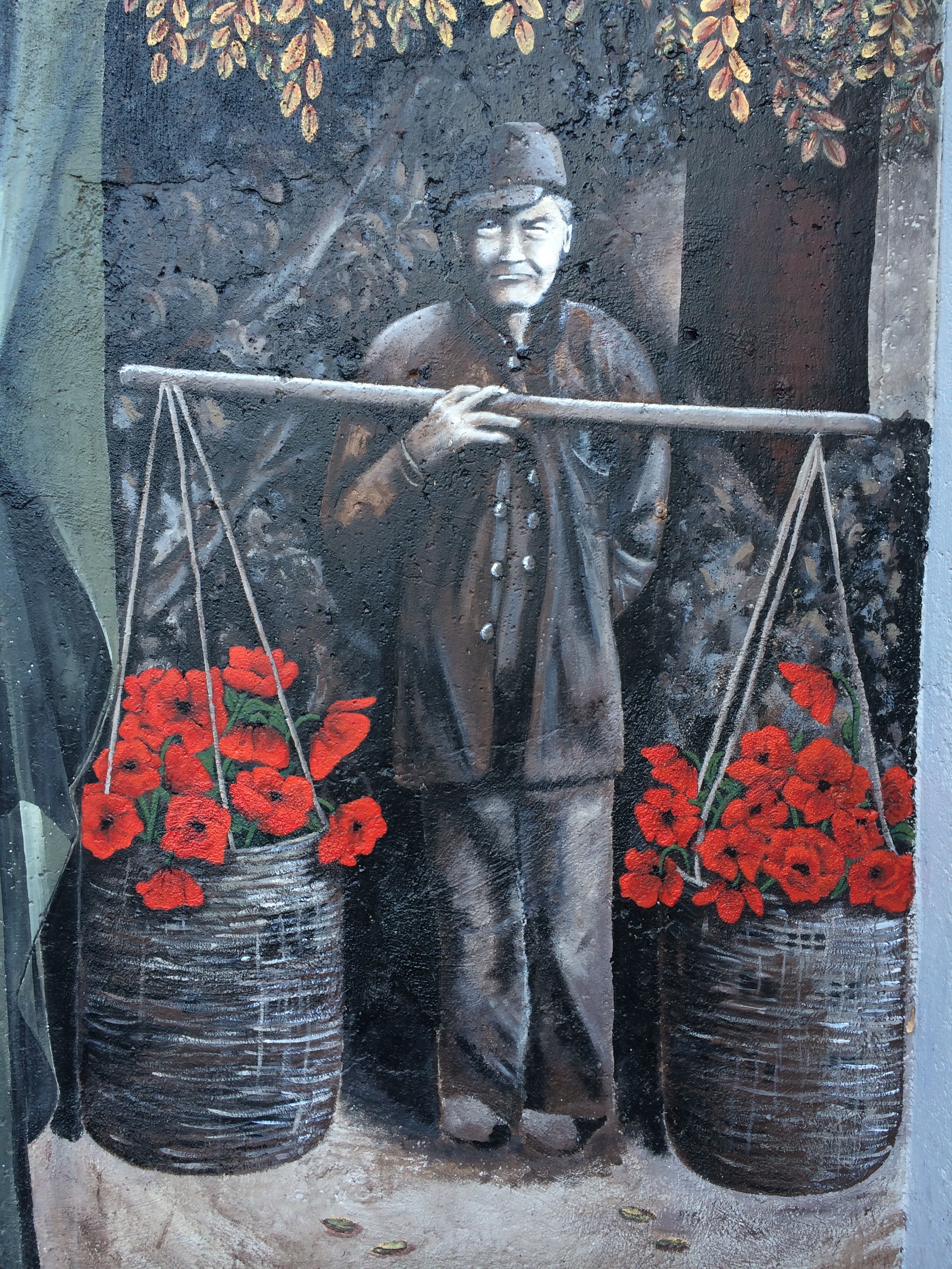 Chinese Man (Stephane Cellier and Molley Malone), baskets (Molley) and poppies (A. Perry).