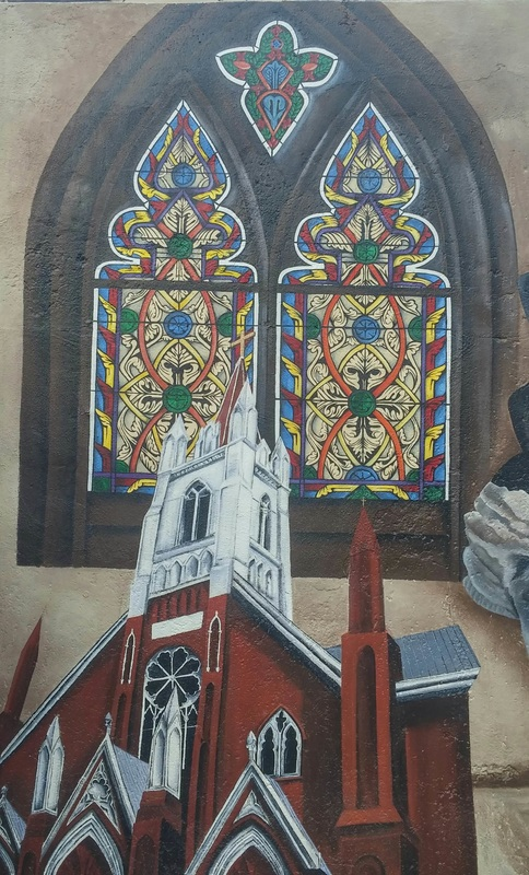 Stained Glass (Corrie Zam-Northan) and St. Mary's Church (Shannon Parson)