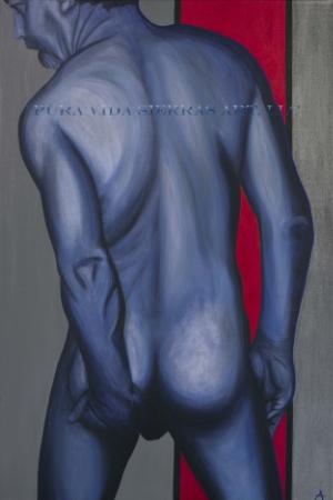 "RAW  acrylic on canvas  24""x36""  sold"