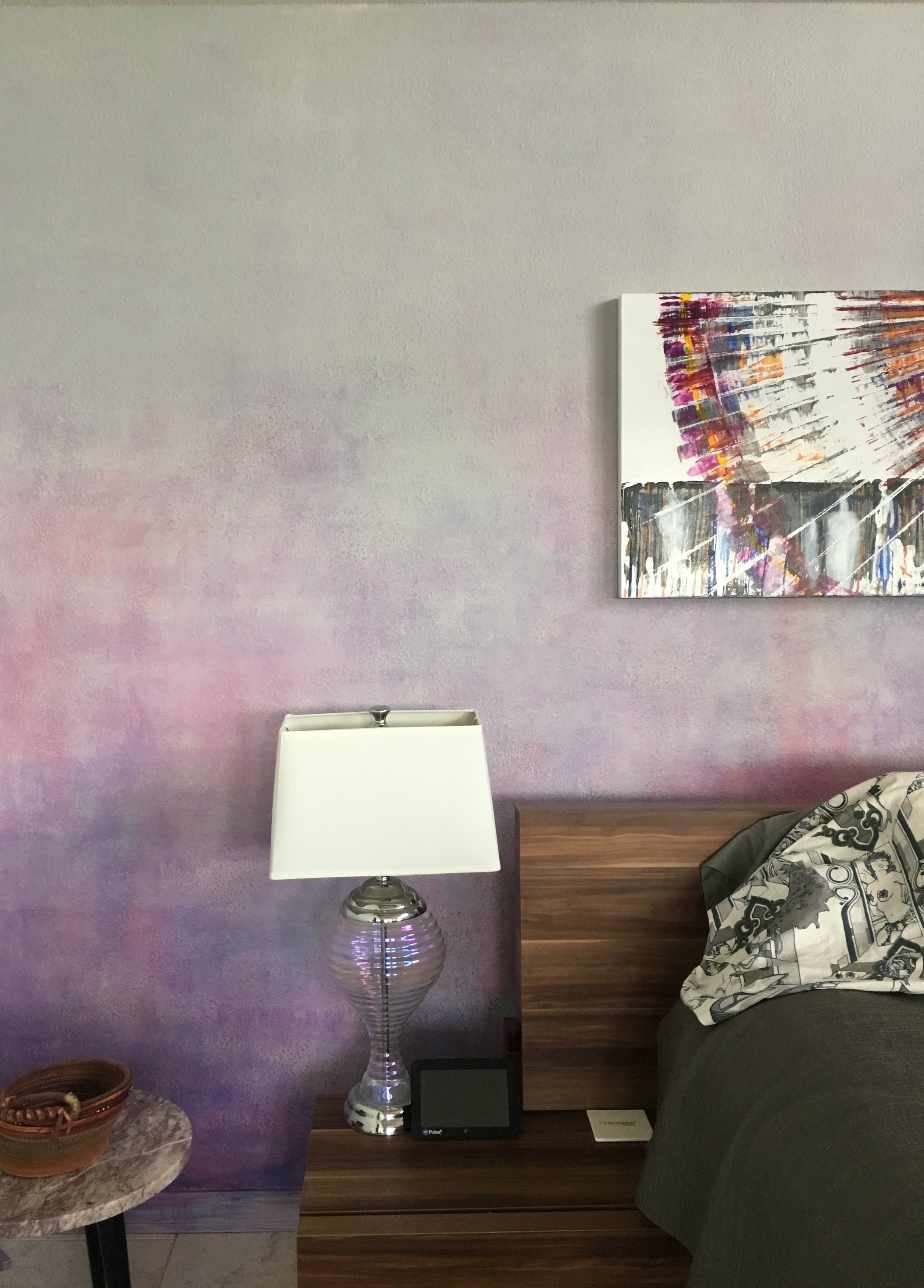 bedroom wall in acrylics  wall hung art by Ross Anderson
