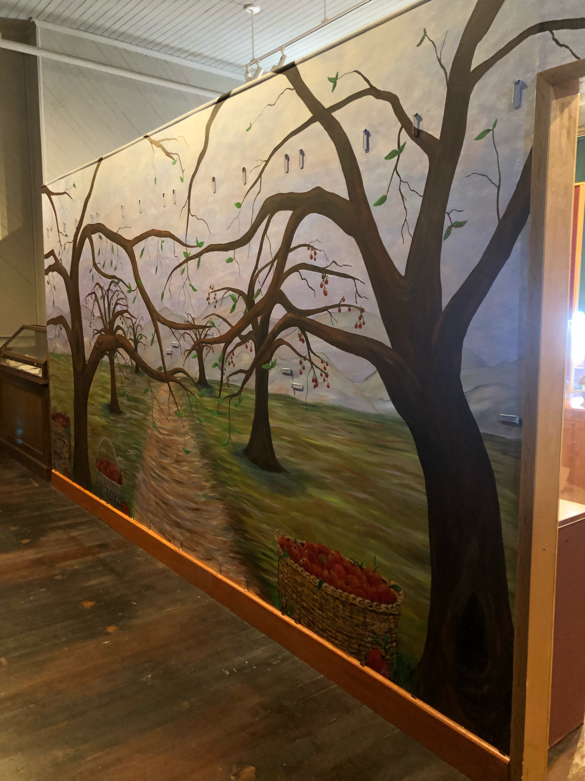 Donor Wall Mural for The Historic Fourth Ward School Museum- the museum will apply apples engraved with key donor names