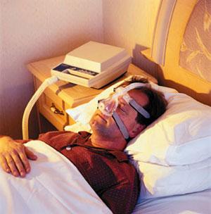 C-pap machines can help with sleep apnea.