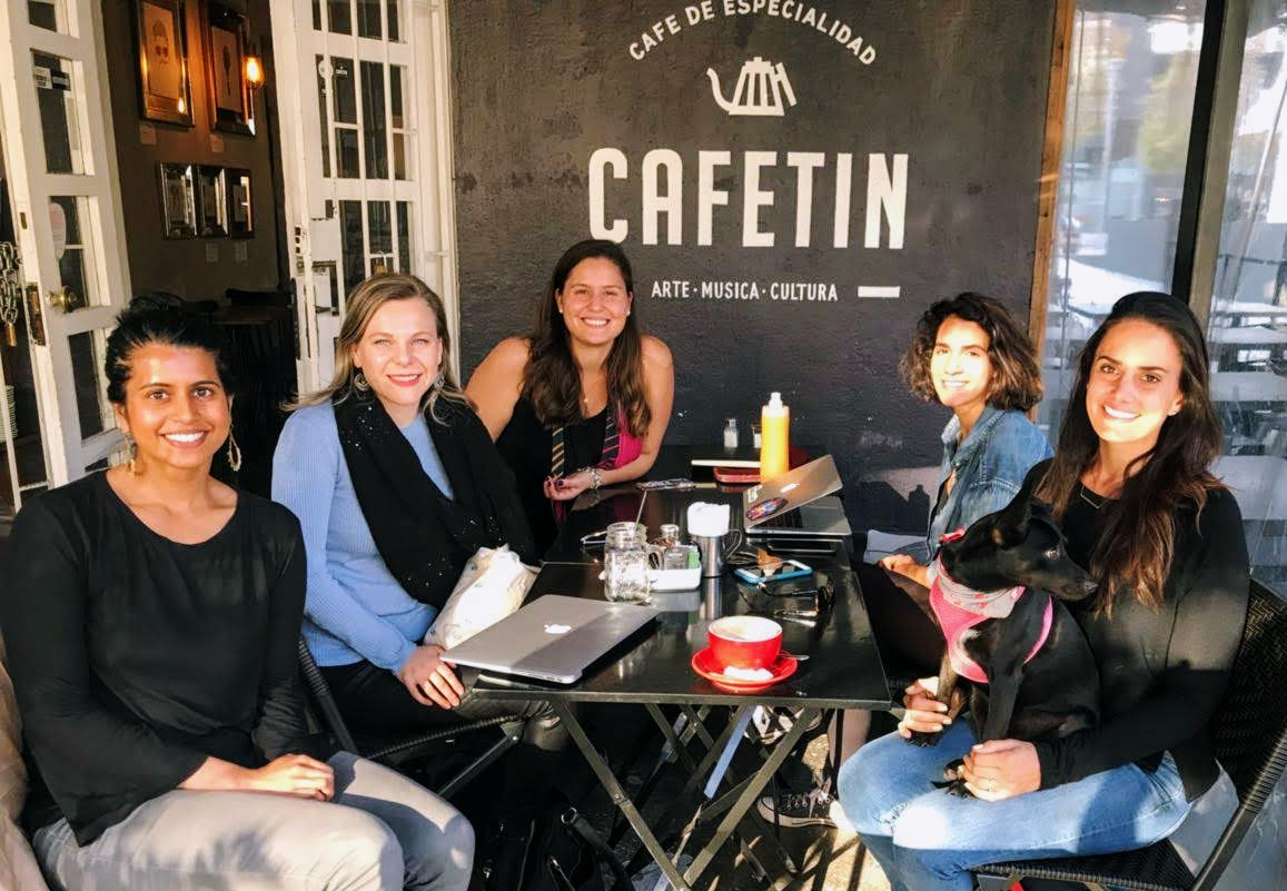 Co-working group that meets at Cafestin